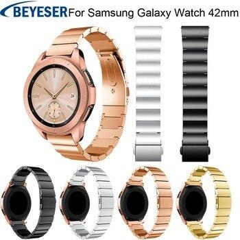 Wrist Band Strap for Samsung Galaxy Watch 42mm Band Stainless Steel Smart watch for Samsung Galaxy Watch 42mm Watch Wrist Bands steel strap tachymeter wrist watch