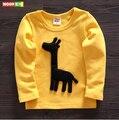 Envío libre la primavera y el otoño hijo varón de manga larga t-shirt ropa infantil de algodón ropa para niños