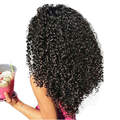 3B 3C Verworrene Lockige Clip In Menschliches Haar Extensions Brasilianische Clip-Ins Vollen Kopf 7 teile/satz 120G Remy haar Prosa Nautral Farbe