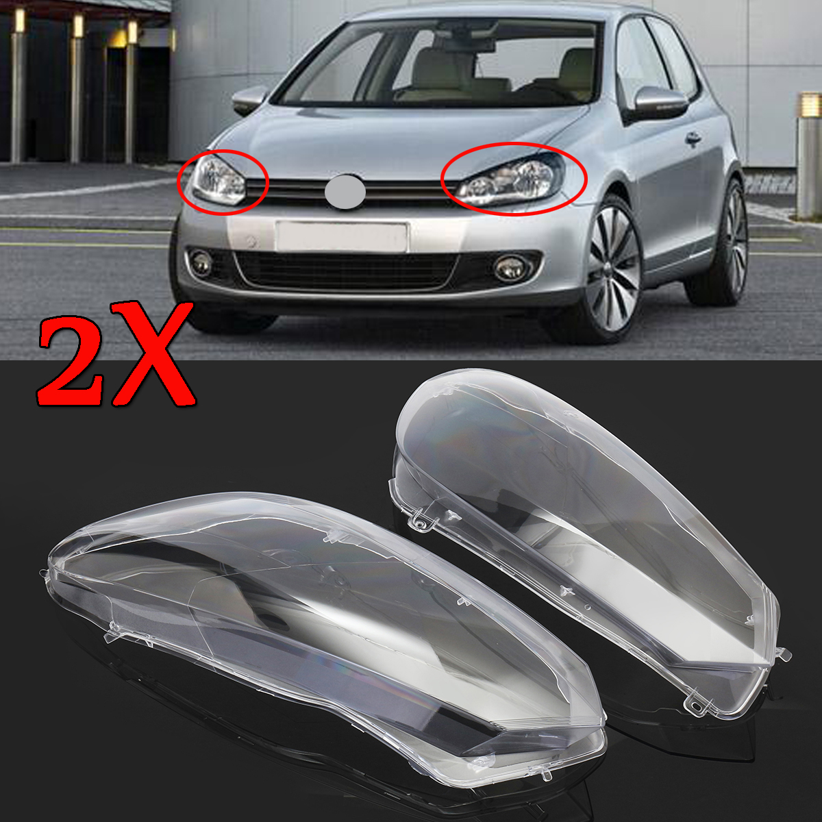 2Pcs Car Clear Headlight Headlamp Lenses Dust Cover Shell Plastic For VW For Volkswagen Golf 6 2010-2014 Front Head Light Cover2Pcs Car Clear Headlight Headlamp Lenses Dust Cover Shell Plastic For VW For Volkswagen Golf 6 2010-2014 Front Head Light Cover
