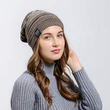 Autumn winter beanies hat Unisex Multicolor Winter Warm Hipster Hat Knit  Slouchy Comfortable Baggy Beanie pompom 1fb2b905ca9