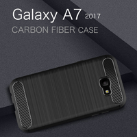 Silica Soft TPU Anti Knock Cell Phone Cases For Samsung Galaxy A7 2017 Case Cover Coque