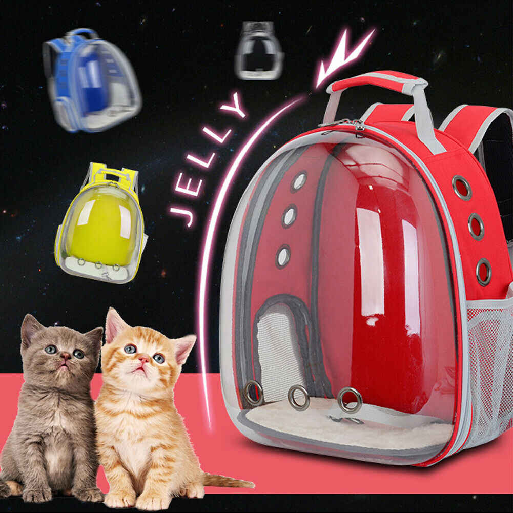 Cute Pet Dog Cat Astronaut Backpack Space Capsule Breathable Multifunctional Outdoor Travel Carrier Bag