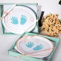 Для новорожденных фоторамка Baby Овальный Ладошек следы Творческий фоторамка Семья подарок домашний декор аксессуары оптом