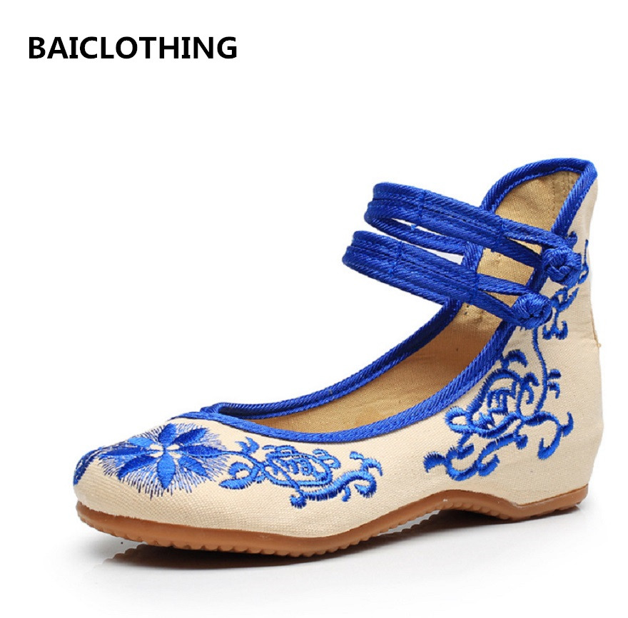 BAICLOTHING women casual red floral flat shoes chinese traditional dance shoes female cute soft and comfortable shoes zapatos vintage embroidery women flats chinese floral canvas embroidered shoes national old beijing cloth single dance soft flats