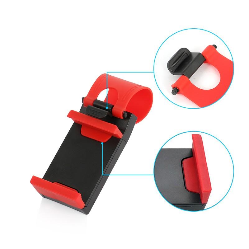 YeeSite Universal Car Steering Wheel Clip Mount Holder for iPhone 8 7 7Plus 6 6s Samsung Xiaomi Huawei Mobile Phone GPS 6