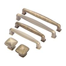 2019 Antique Bronze Furniture Handles Zinc Alloy Cabinet Knobs and Handles Drawer Door Pull Handle Kitchen Furniture Fittings недорого