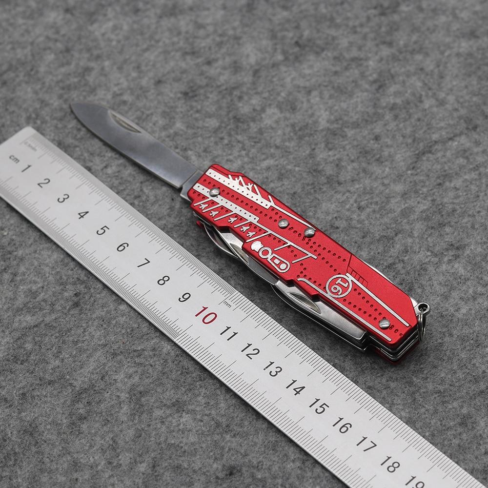 Uus! Punane multifunktsionaalne tööriistade kokkuklapitav nuga, - Käsitööriistad - Foto 5