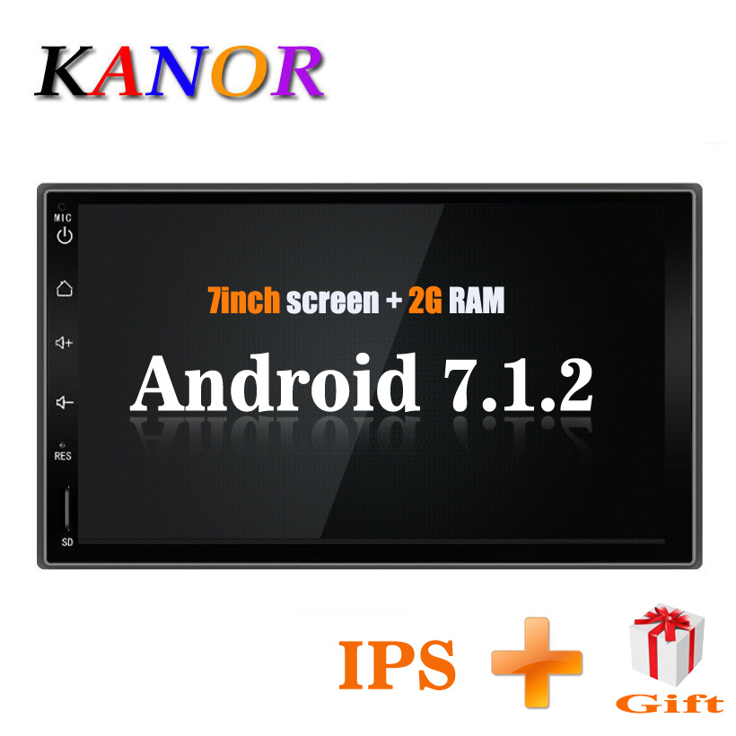 KANOR 7 2Din 1024*600 Android 7.1 2 din Universal Car Radio For Nissan GPS Navigation BT Radio Stereo Audio Player(No DVD) quik lok s171pa