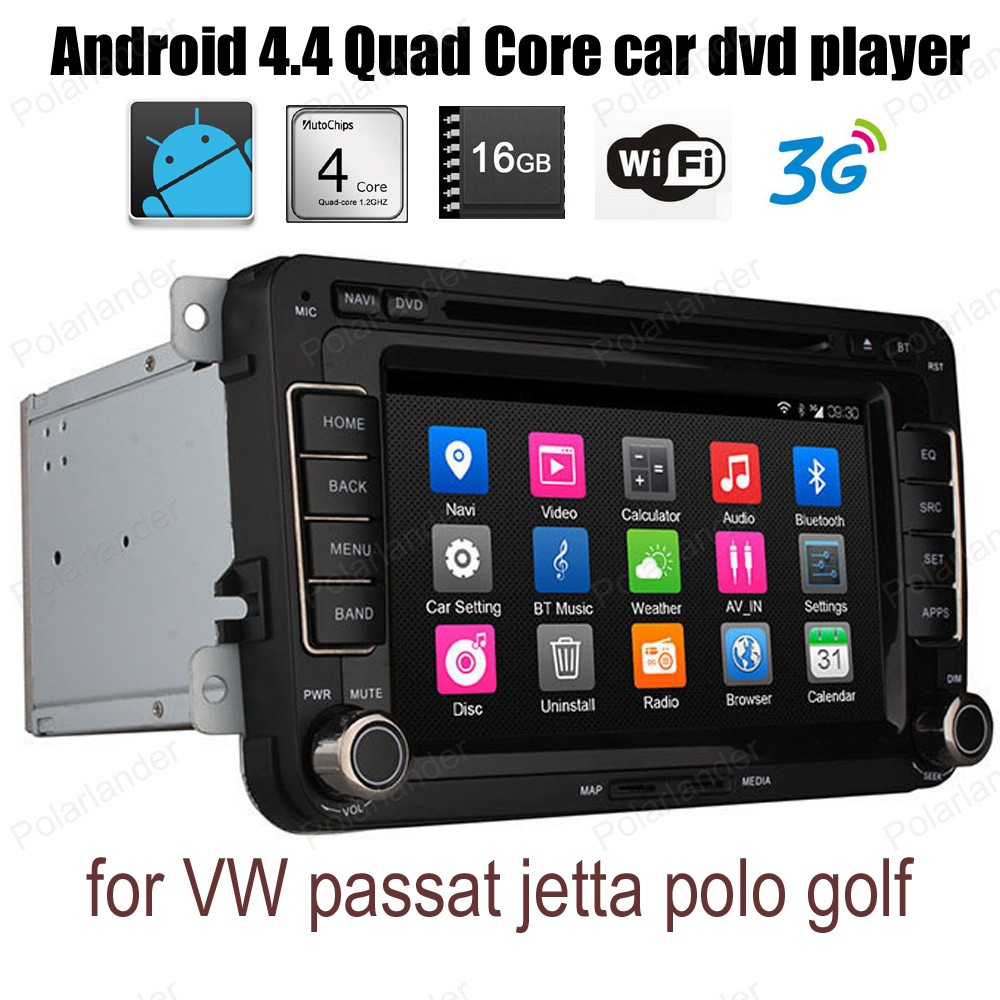 Android4 4 7 inch Car DVD For VW passat jetta polo golf FM AM radio support
