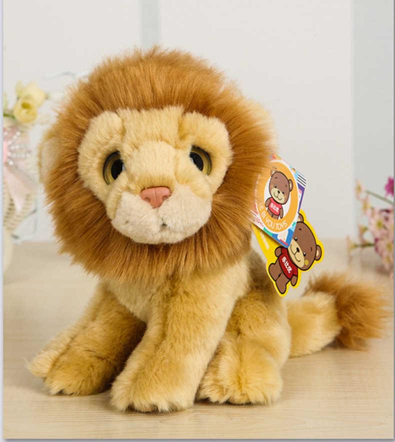 """7 """"כמו בחיים יושב אריה צעצועי קטיפה חמוד גדול Eyed חיות בר ממולא צעצוע יום הולדת מתנה לחג המולד צעצועים רכים עבור ילדים"""