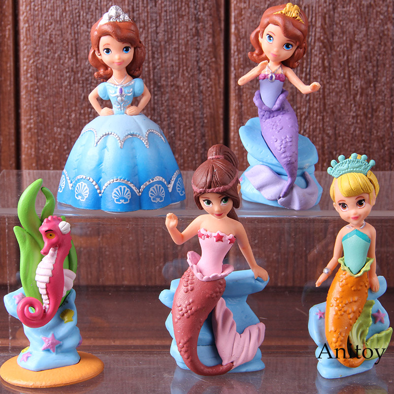 Disney Sofia The First Princess 8cm Mini Doll Action Figure Posture Anime Decoration Collection Figurine Toy Model For Children Toys & Hobbies