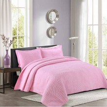 WINLIFE Solid Comforter Set 100% Cotton Quilt Soft and Breathable Bedspread