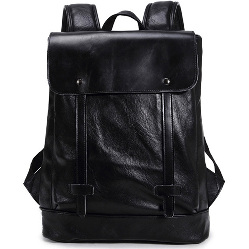 LEVELIVE Fashion Male Backpacks Preppy Style Men's Leather Backpack Men Laptop Bag Travel Bagpack School Bags for Teenage Boys right combination headlight assembly for lifan s4121200