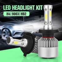 S2 1 Paar Auto Auto Licht Led H4/HB2/9003 Led 6000 Karat KÜHLES weiß 80 Watt 8000LM COB Chip Autos Teil Lampe