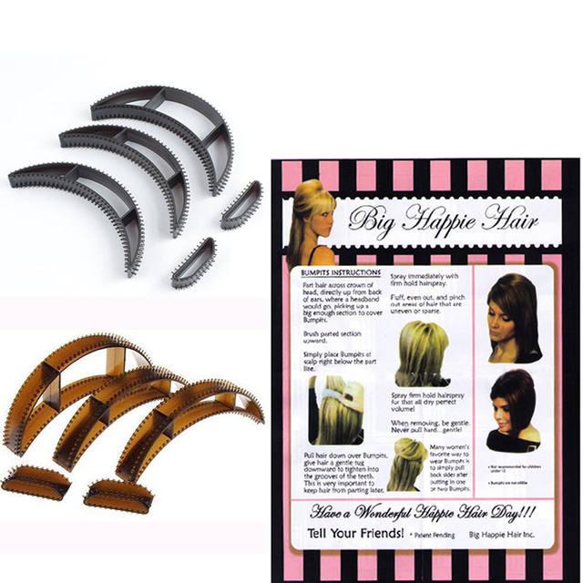 5pcs Pits Hie Hair Volumizing Inserts Pump Beauty Set Tool 3 Size Drop Shipping