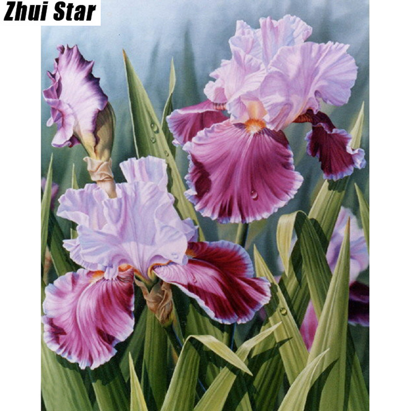 Full Square Diamond 5D DIY Diamond Painting Beautiful flowers Embroidery Cross Stitch Rhinestone Mosaic Painting Decor Gift
