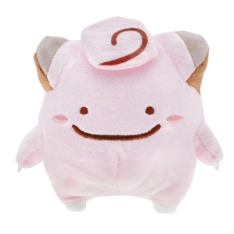 5pcs/lot 13cm Cute Ditto Clefairy Plush Toys Doll Soft Stuffed Cartoon Animals Toys Gifts for Kids Children With Tag 5pcs lot pikachu plush toys 14cm pokemon go pikachu plush toy doll soft stuffed animals toys brinquedos gifts for kids children