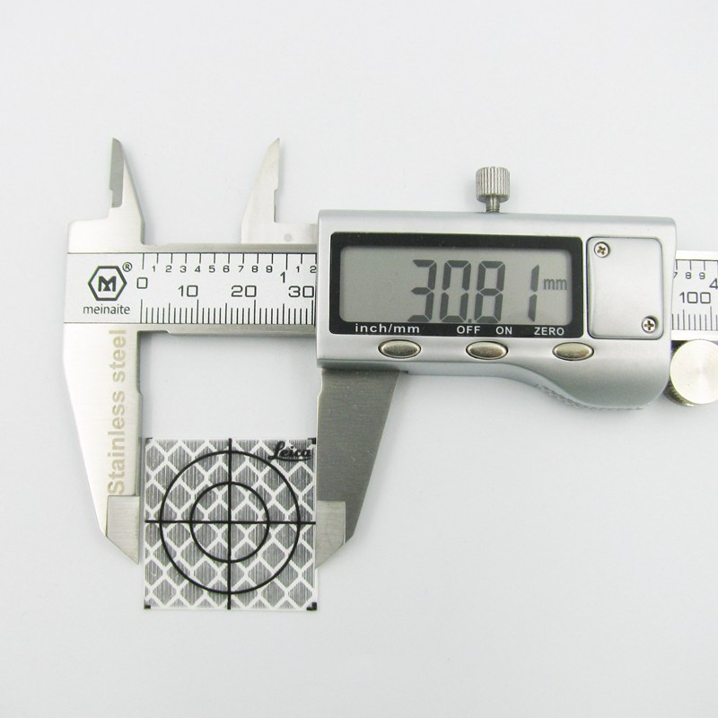 30mm×30mmトータルステーション反射計トンネル測定反射ステッカープリズム紙反射シート用ライカソキアライカプリズムポール