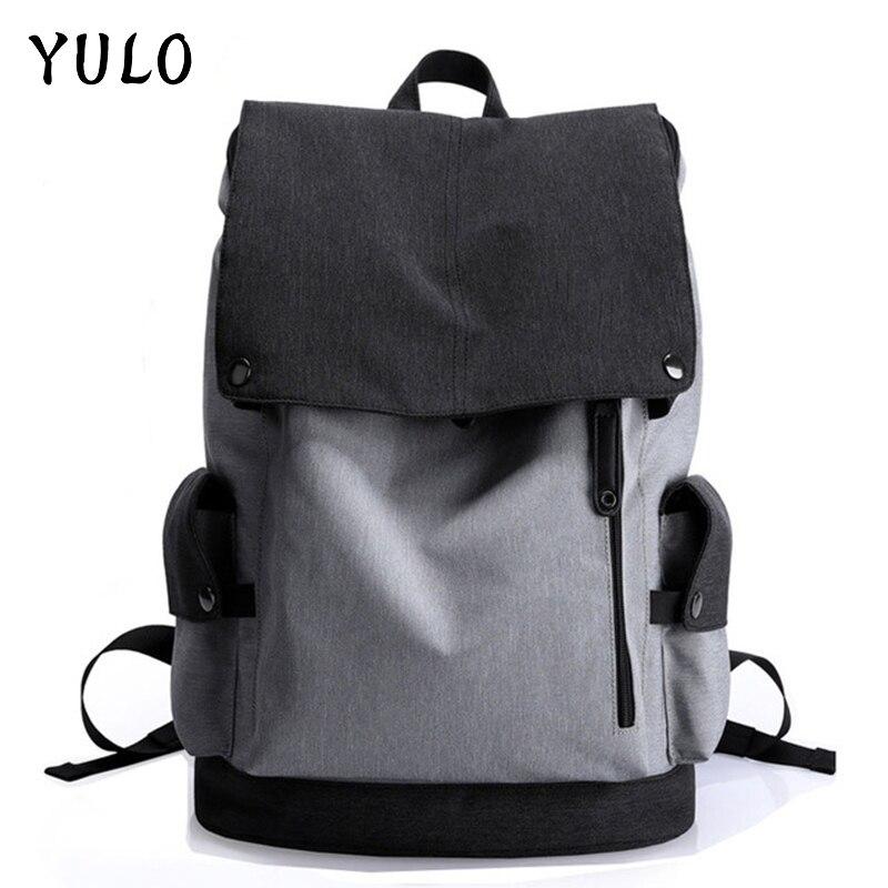 YULO Waterproof Large Capacity 15.6 Inch Laptop Bag Man Design Backpack Bag Black Backpack women School Bags Mochila Masculina men backpack student school bag for teenager boys large capacity trip backpacks laptop backpack for 15 inches mochila masculina