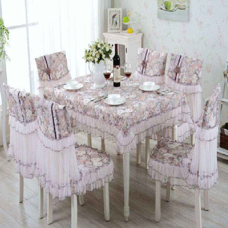 Linen table cover handmade embroidery table cloth - Set de table crochet ...