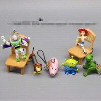 Historia del juguete llavero juguete Buzz Lightyear Rex Slinky perro Hamm  cerdo Alien PVC llavero colgante d628dec29d5