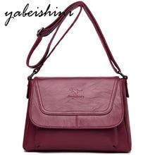 YABEISHINI New Women Crossbody Bags For 2019 Woman Summer Bag Leather Luxury Handbags Designer Sac A Main Femme