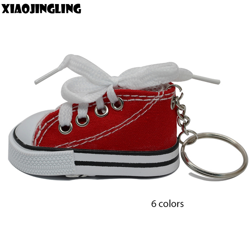 XIAOJINGLING Creative 3D Mini Shoe Sneaker Keychain For Women Car Bag Purse Key  Chains Key Holder Mobile Phone Accessory Pendant 45be8a40b4