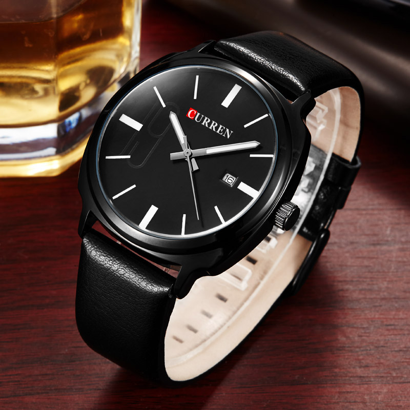 2018 Fashion Mens Watches CURREN Militray Sport Quartz Men Watch Leather Waterproof Male Wristwatches Relogio Masculino 2017 new top fashion time limited relogio masculino mans watches sale sport watch blacl waterproof case quartz man wristwatches