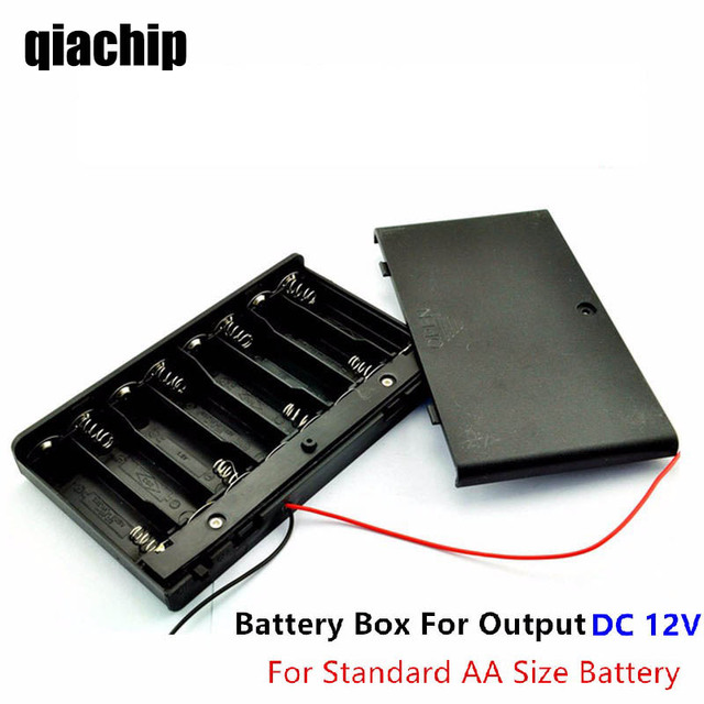 12 Volt battery Holder 8pcs AA Battery Box Case With ON / OFF ...