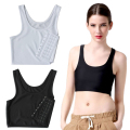 1Pc Bra Binder Vest Sportswear Lesbian Tank Tomboy Corset Cotton Short Sleeveless Slim Comfortable Quality