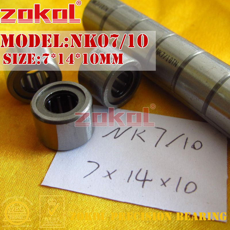 ZOKOL bearing NK07/10 needle roller bearings with-out inner ring 7*14*10mm