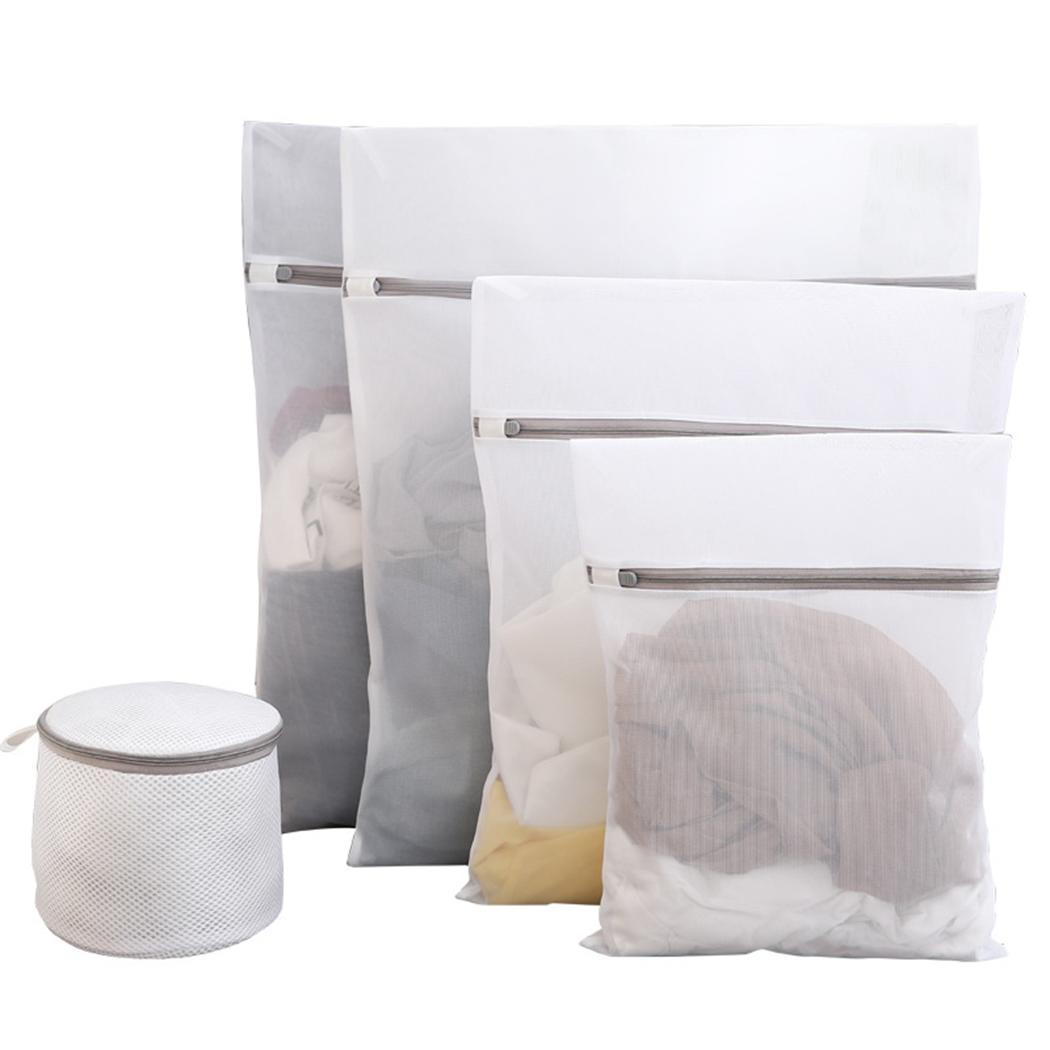 New Multi-functional Wash Mesh Laundry Delicates Pack Of Net Prints Bag With Zipper