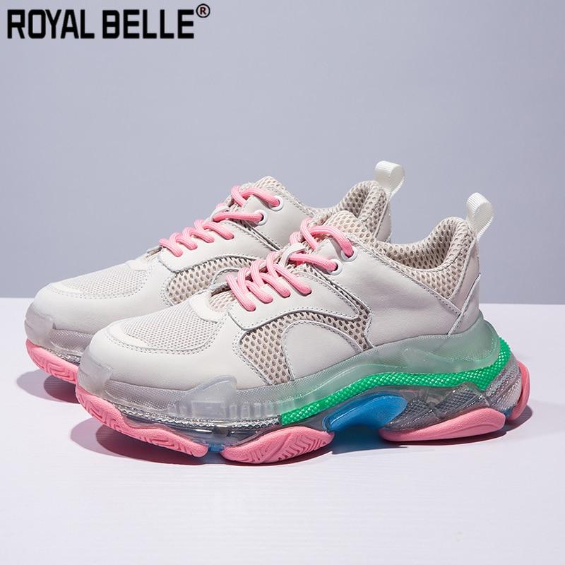 Clever Royal Belle Marke Frauen Schuhe Flache Designer Lace Up Plattform Turnschuhe Frauen Tennis Feminino Creeper Damen Schuhe Trainer Sneaker