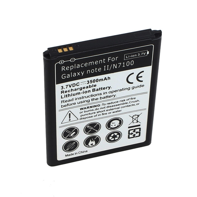 3500mAh Battery For Samsung Galaxy Note 2 II GT-N7100 Phone Replacement Rechargeable  Celular Bateria Wholesale