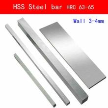 HSS Steel HRC63 to HRC65 High-strength Plate Turning Tool High Speed Sheet DIY material Wall 3mm 4mm