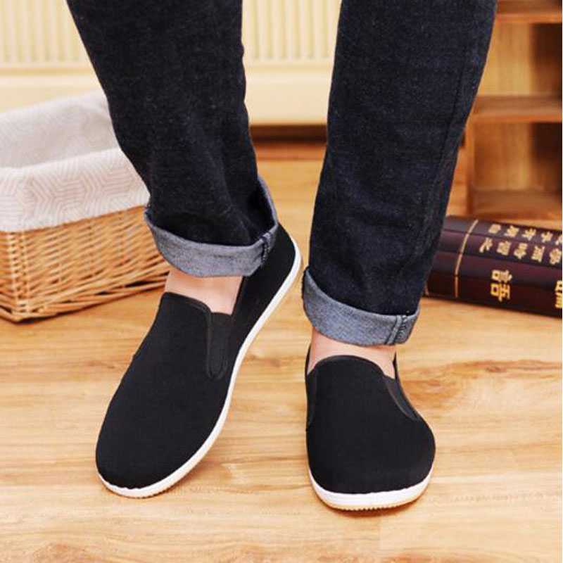Quality Men's Cotton shoes Sneakers Autumn Flats Casual Shoes Brand Canvas Shoes Comfortable Men Driving Shoe Loafers M500 brand 2018 new comfortable casual shoes loafers men shoes high quality driving shoes fashion trends spring and autumn bh a0054