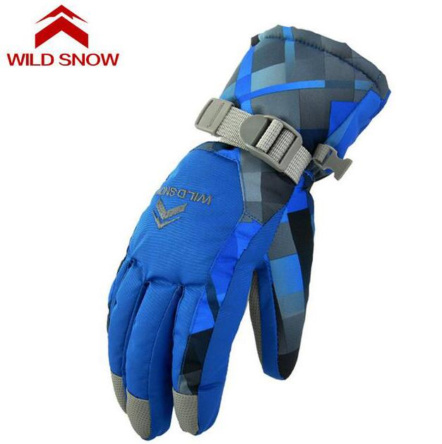 Wild snow Professional Women Men Ski Gloves Waterproof Outdoor Warm Winter Snowmobile Guantes Skiing Snowboard Snow Gloves