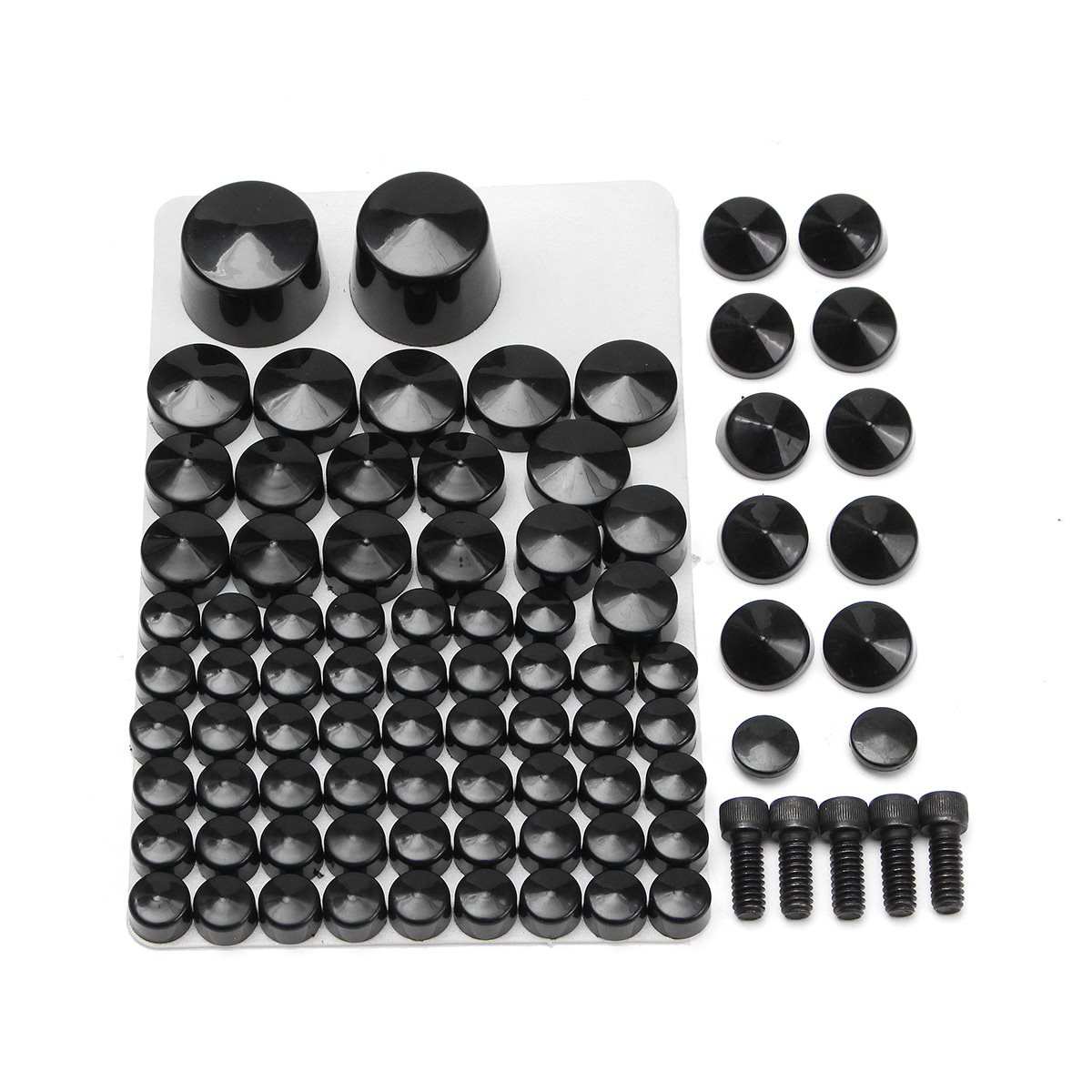 81 Pcs Chrome Motorcycle Toppers Cover Bolts For Harley Softail/Twin/Cam Models  2007-2013 ABS Plastic Black chrome custom motorcycle skeleton mirrors for harley davidson softail heritage classic