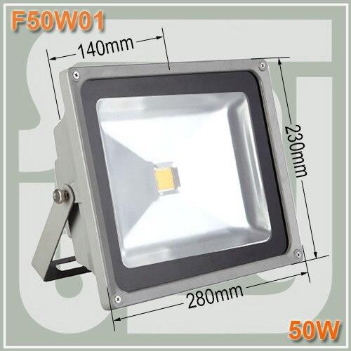 Livraison gratuite 50 w LED Projecteur étanche IP65 D'inondation Extérieure Projection de La Lumière AC85-265Vac 50 w led rue lumière