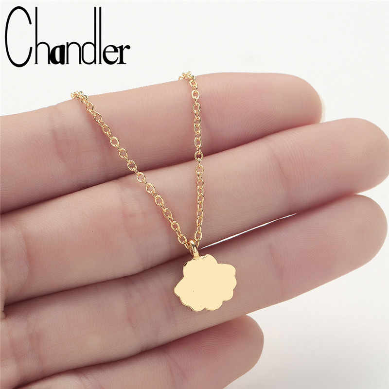 Chandler Copper Shell Necklace Sea Shell Charm Gold Color Necklaces For Women Engraved Summer Pendant Necklace Gift For Her