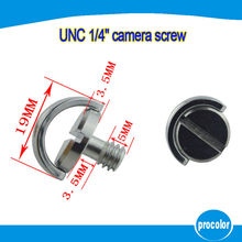 10 pcs New design camera accessories 1/4″ UNC screw with D-ring for tripods ball head and quick release plate