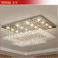 Luxury Modern Rectangle Crystal Ceilling Light High Quality Lamps For Living Room Hotel Corridor Aisle Hall