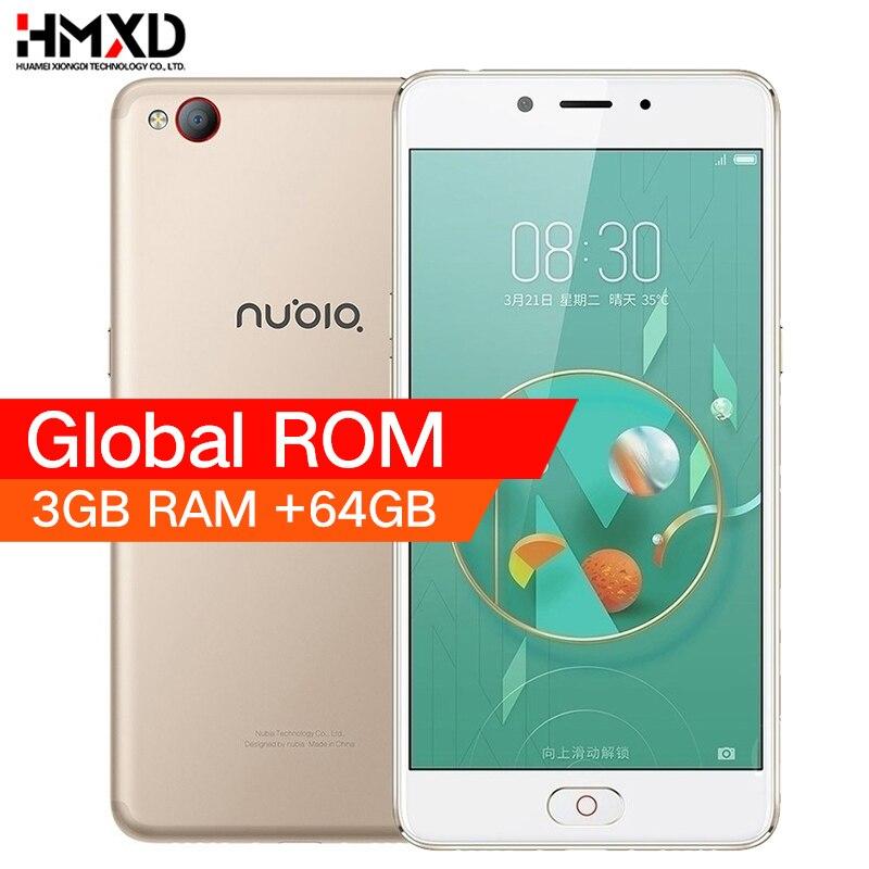 Original 2017 ZTE Nubia M2 LITE 4G LTE MT6750 Octa Core Android M 5.5 3G RAM 64GB ROM 16.0MP 3000mAh Battery Smartphone