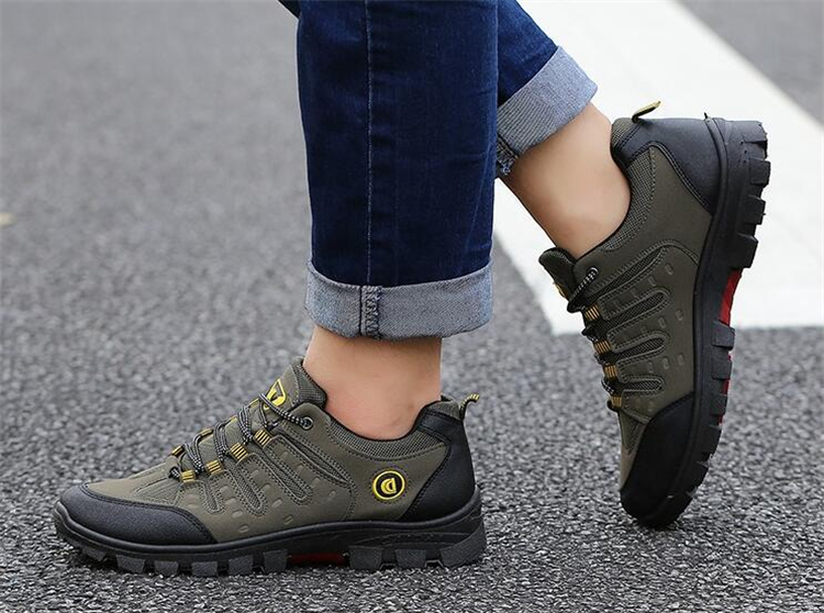 Men's Breathable Work Shoes 2018 Summer Autumn Non-slip Wear-resistant Travel Shoes Outdoor Male Shoes Fishing Sneakers For Men