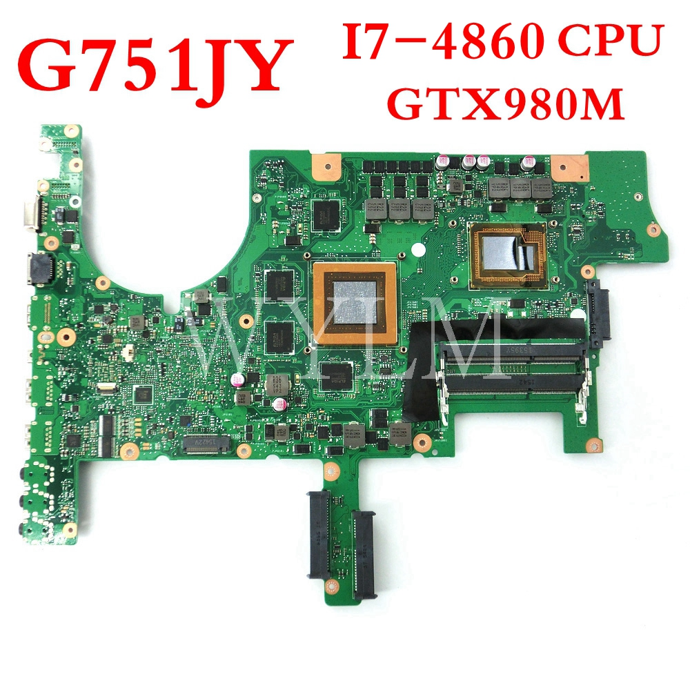 G751JY motherboard i7-4860HQ CPU GTX980M N16E-GX-A1 motherboard REV2.5 For ASUS G751J G751JY Laptop mainboard 100%TestedG751JY motherboard i7-4860HQ CPU GTX980M N16E-GX-A1 motherboard REV2.5 For ASUS G751J G751JY Laptop mainboard 100%Tested