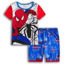 Детская одежда «мстители» коллекция года, летняя одежда «супергерой», «Железный человек», «Капитан Америка», «Человек-паук» Футболки для мальчиков и девочек+ штаны, пижамный комплект