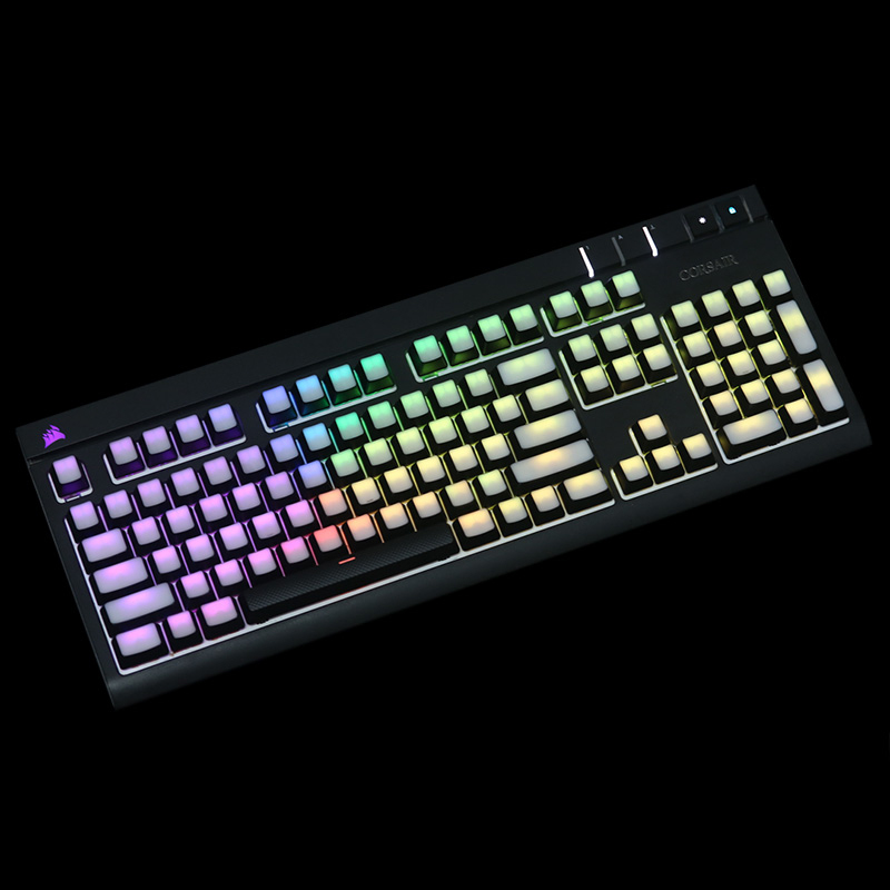 blank Printed Backlit Keycaps 104 87 ANSI layout Translucidus Backlit abs Keycaps For Corsair K65 K70