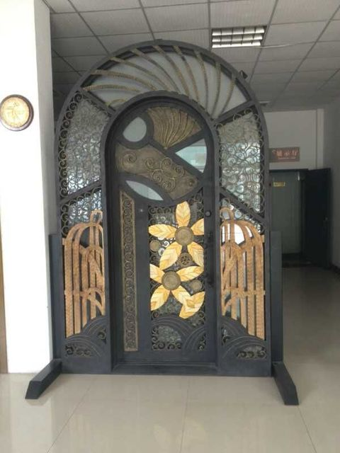 Hench Custom Design Luxury Wrought Iron Entry Doors DDU Shipping To USA  Home HC D6