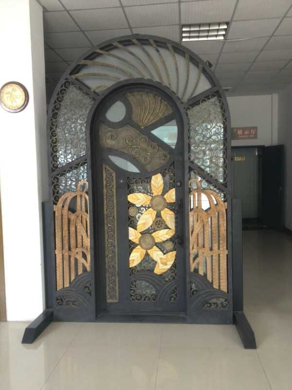 Hench Custom Design Luxury Wrought Iron Entry Doors Ddu Shipping To Usa Home Hc D